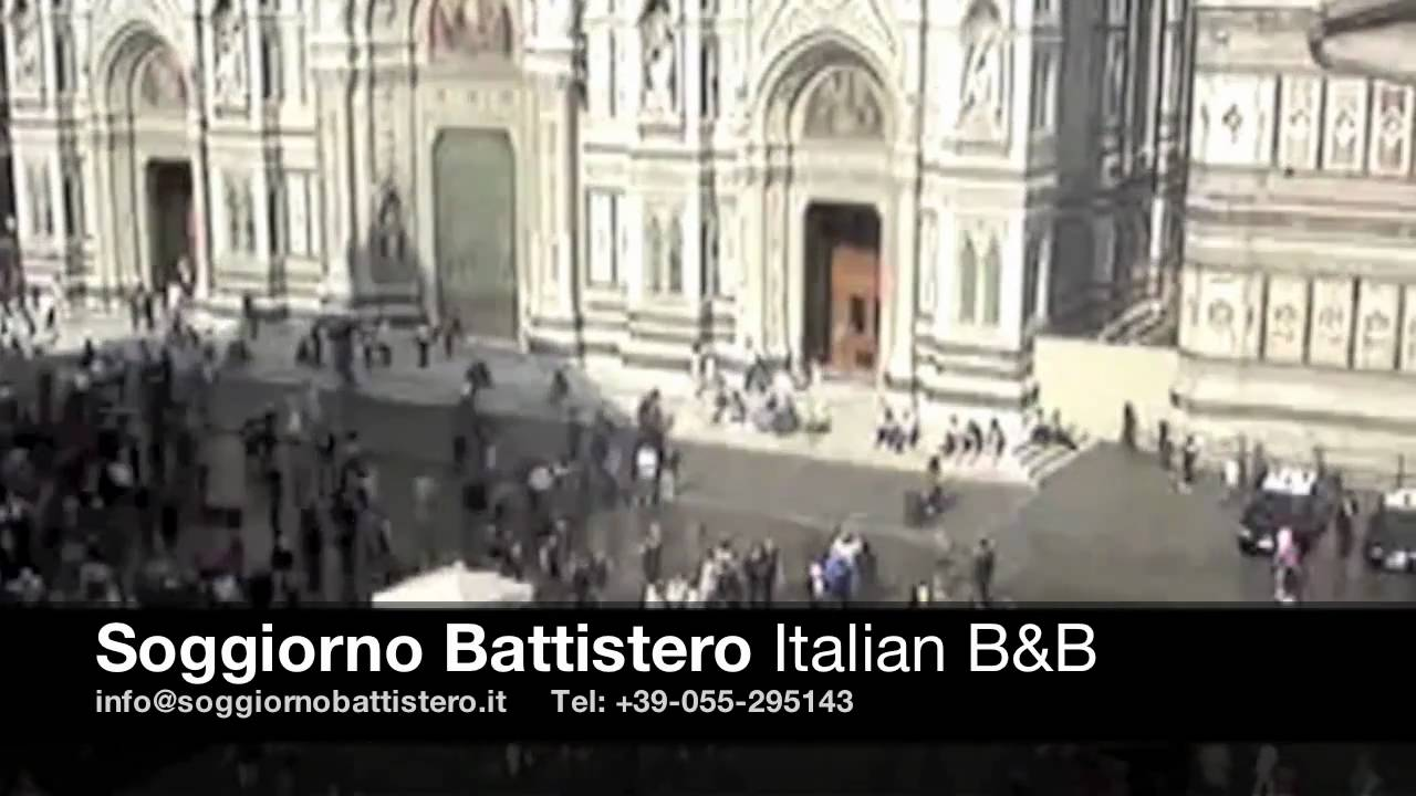 Soggiorno Battistero B&B Florence - Rooms with a view - YouTube
