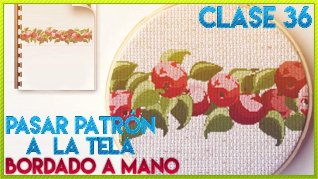 CLASE 36 ¿CÓMO BORDAR PATRON
