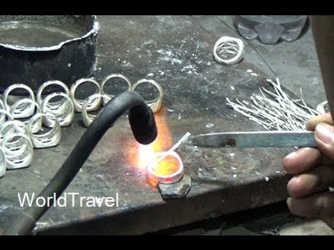 Tour of a Silver Jewelry workshop and gallery, Bali Indonesia.