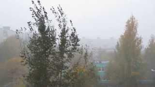 Снежный ливень в Перми. 2 октября 2013 года
