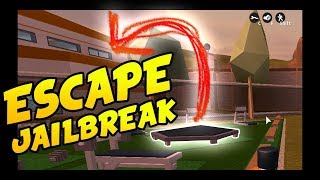 Roblox jailbreak escaping with the trampoline
