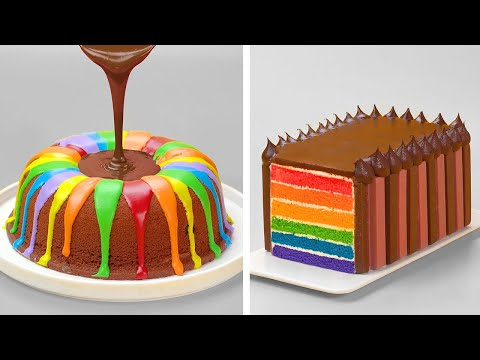 Awesome Rainbow Chocolate Cake Decorating Ideas | So Yummy Cake Tutorials | Perfect Cake