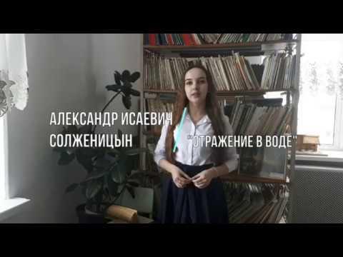 Изображение предпросмотра прочтения – ДарьяГовдырь читает произведение «Крохотки: Отражение в воде» А.И.Солженицына