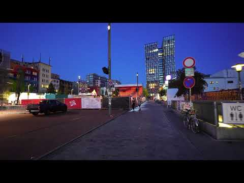 night walk in St.Pauli by Reeperbahn Festival in Hamburg September 2020 4K