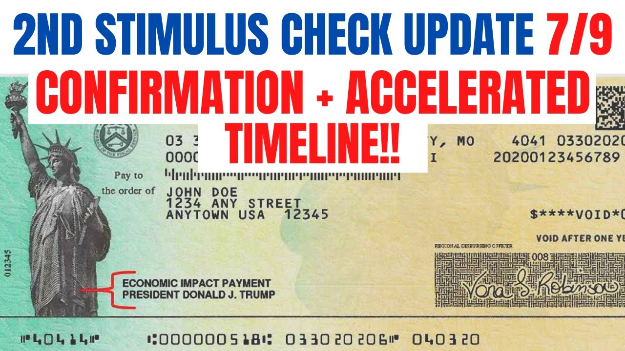 Second Stimulus Check| Confirmation and Timeline from White House
