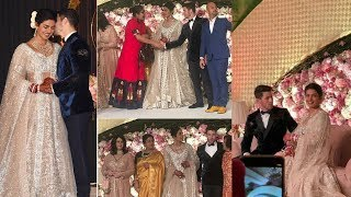 Inside lovely moments of Just Married Priyanka and Nick Jonas with guests and family at reception ❤