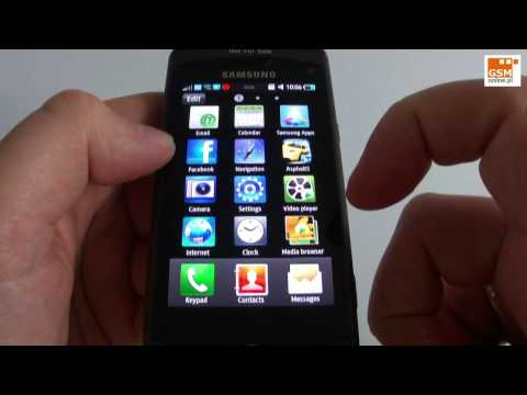 Samsung Wave GT-S8500 - phonebook, Samsung Apps, Facebook etc