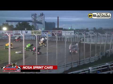 NOSA Sprint Car Highlights - River Cities Speedway - June 23, 2017