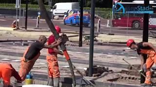 Betonvloer aanleg busstation assen