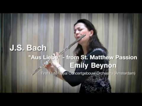 J.S. Bach - 'Aus Liebe' aria from St. Matthew Passion demonstrated by Emily Beynon