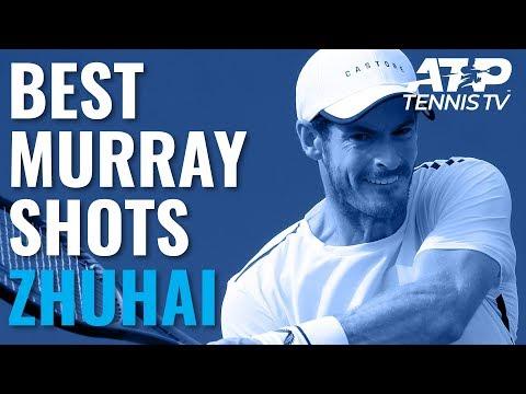 Andy Murray Best Shots in Win v Sandgren   Zhuhai 2019