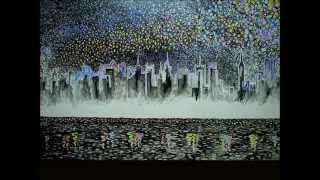 Self-portrait Painter-NamGoong Moon, The night view of Manhattan