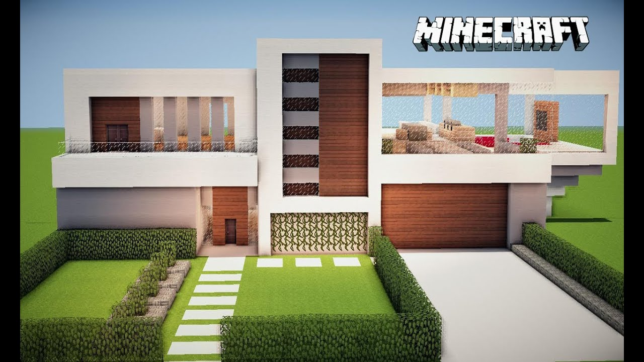 Minecraft casa moderna comece seu mundo tutorial e for Casas modernas no minecraft