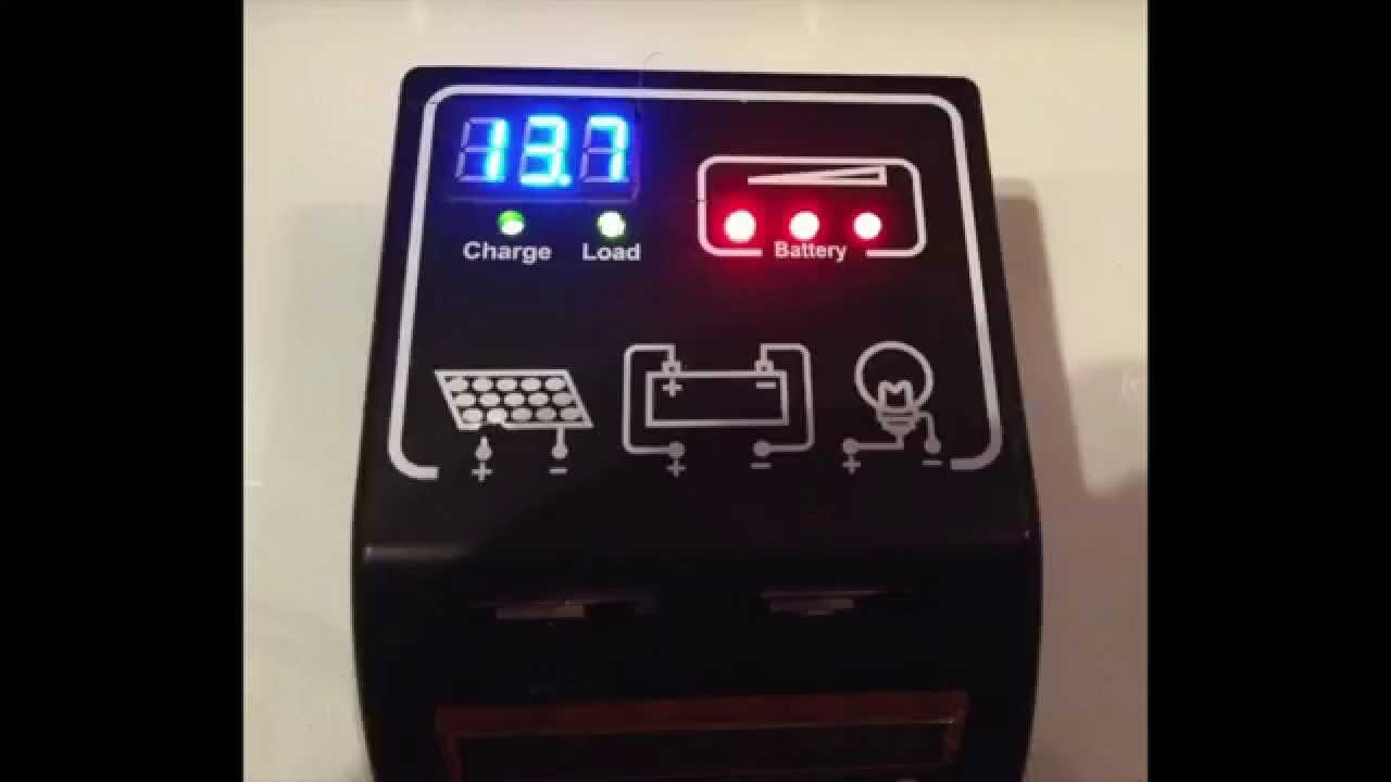 Add Voltmeter To Solar Charge Controller Youtube Battery Volt Meter Small Digital Led Display Charging Circuit Monitor