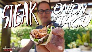 Best Steak & Onion Taco | SAM THE COOKING GUY