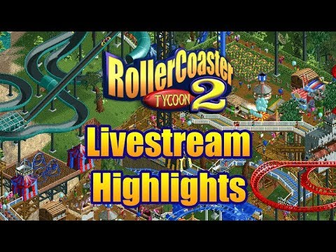 RollerCoaster Tycoon 2: Multiplayer - The Livestream Highlights
