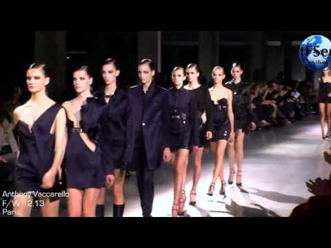 Model Pauline Hoarau Stumbles multiple times during Anthony Vaccarello F/W 2012-2013