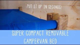 MOST COMPACT CAMPER VAN BED EVER!? Space Saver vanlife living!