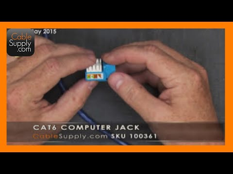 How To Install A Cat6 Computer Jack