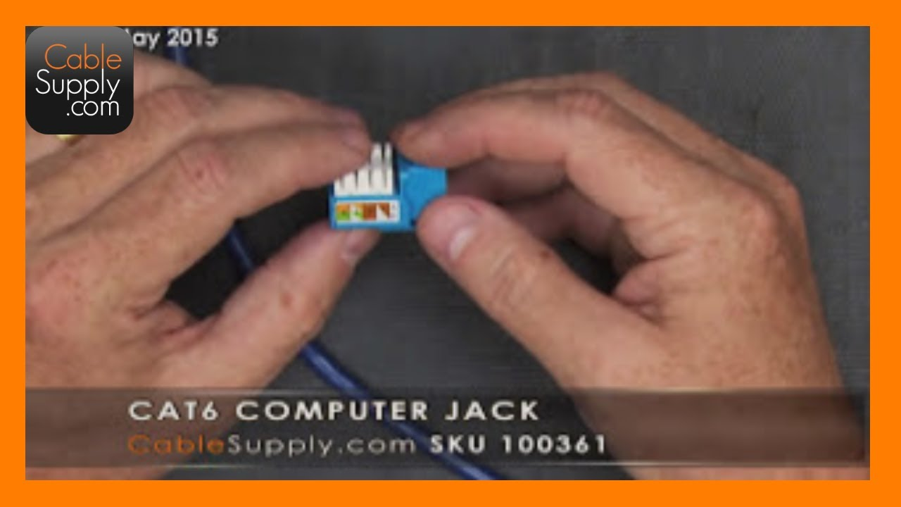 How To Install A Cat6 Computer Jack Youtube Cat 6 Keystone Wiring Diagram