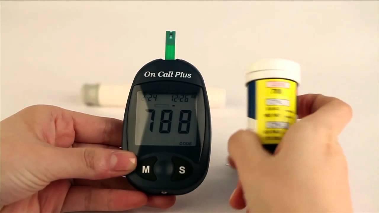 Medidor de glicemia on call plus