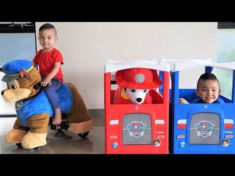 GIANT Paw Patrol Ride On Plush Chase Marshall Kids Fun Pretend Play Ckn Toys