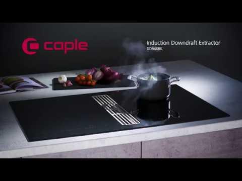 Caple DD940BK Induction Hob U0026 Downdraft Extractor