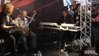 Keith Emerson plays a Korg M3-88 at Winter NAMM 2009