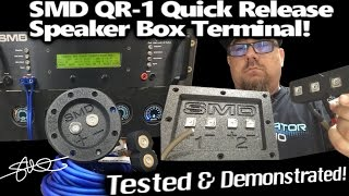 SMD QR-1 Quick Release Magnetic Speaker Box Terminal - Tested/Demonstrated *Bonus CableTwitch*