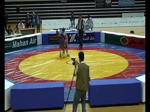 Cedric wrestling at the WC Zurkhaneh sports in Busan, 2008