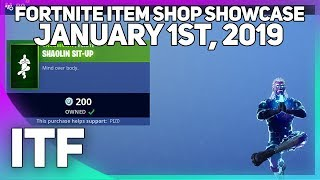 Fortnite Item Shop *NEW* SHAOLIN SIT-UP EMOTE! [January 1st, 2019] (Fortnite Battle Royale)