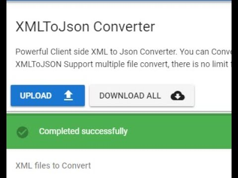 XML to JSON conversion , How to Bulk convert XML to Json