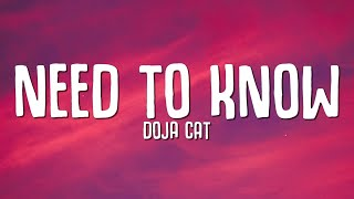 Download Doja Cat - Need To Know (Lyrics)