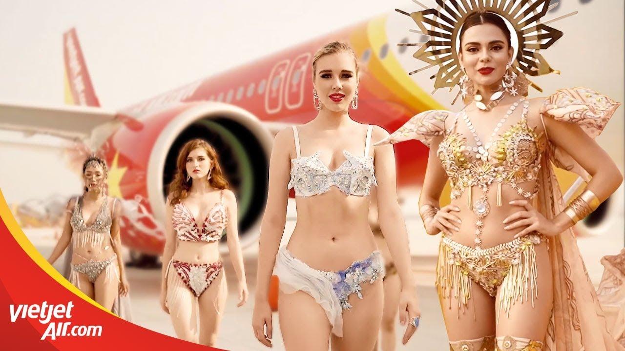 Hé lộ FULL clip siêu mẫu chụp ảnh Lịch bikini Vietjet 2020 nóng bỏng