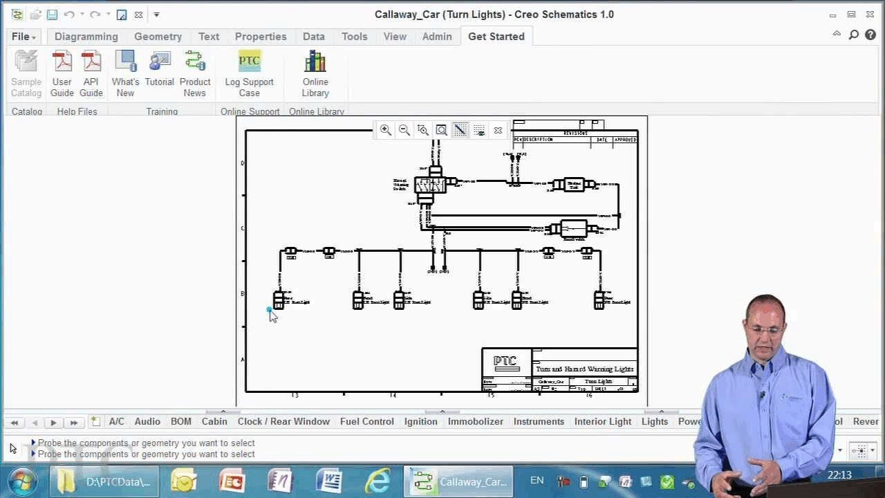 Electrical Wiring Diagram Software 94 Ford Bronco Stereo Introducing Creo Schematics - Ptc Youtube