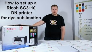 Unbox and Install Your Ricoh Printer for Sublimation Printing - Dye Sublimation Supplies