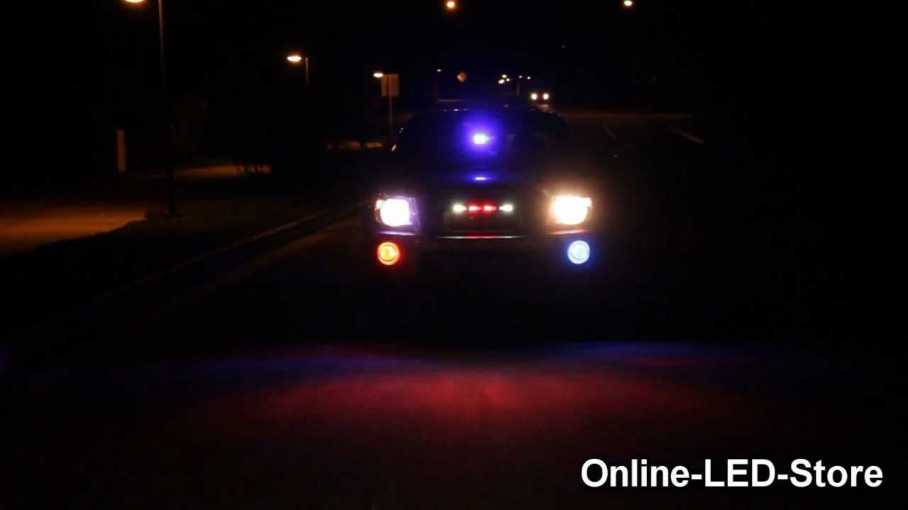 Police Undercover Pov Vehicle Led Warning Lights