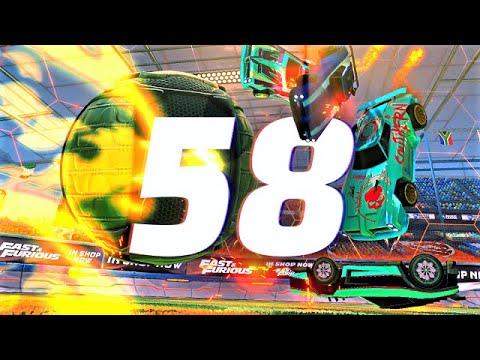 Download ROCKET LEAGUE INSANITY 58 ! (BEST GOALS, 4 MAN PINCH, CEILING 360 SHUFFLE FREESTYLES)