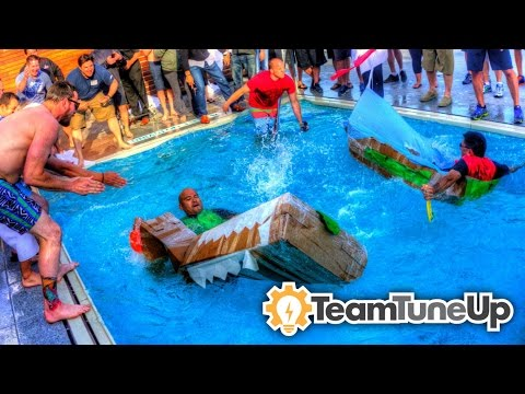 Cardboard Boat Building Team Building by Team TuneUp