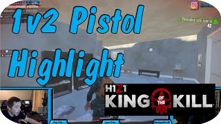H1Z1: King of the Kill - 1v 2 M9 Pistol vs AR-15/Shotgun Team