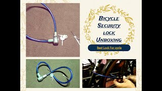 Unboxing & Review Wire Lock for Bicycle /Bicycle Security lock Unboxing & Review/Best Lock For cycle
