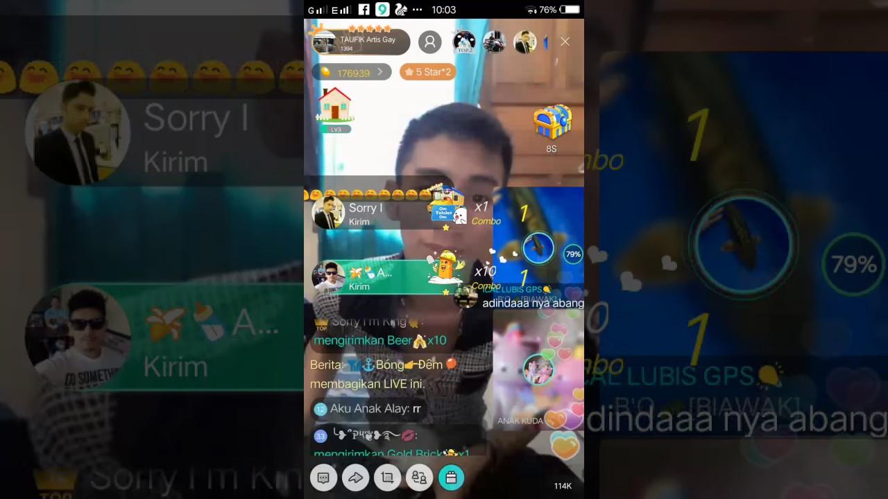 Bigo live Taufik orang kaya hancurin laptop