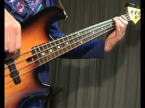 Gary Moore - Walking By Myself - Bass Cover