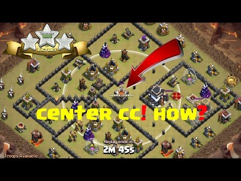 Draw Out Center CC Troops Easily In War (TRICK) | Clash Of Clans | Laggy Bugs Production