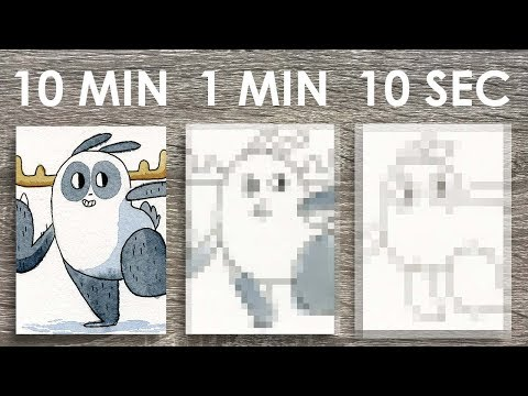 10 MINUTE, 1 MINUTE, 10 SECOND CHALLENGE (Watercolor Edition!)