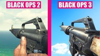 Call of Duty Black Ops 2 Gun Sounds vs Call of Duty Black Ops 3