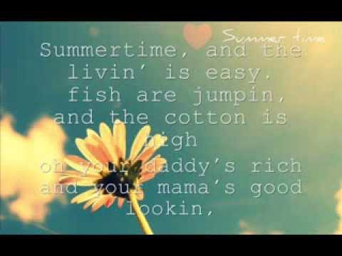 Summertime Cover with lyrics