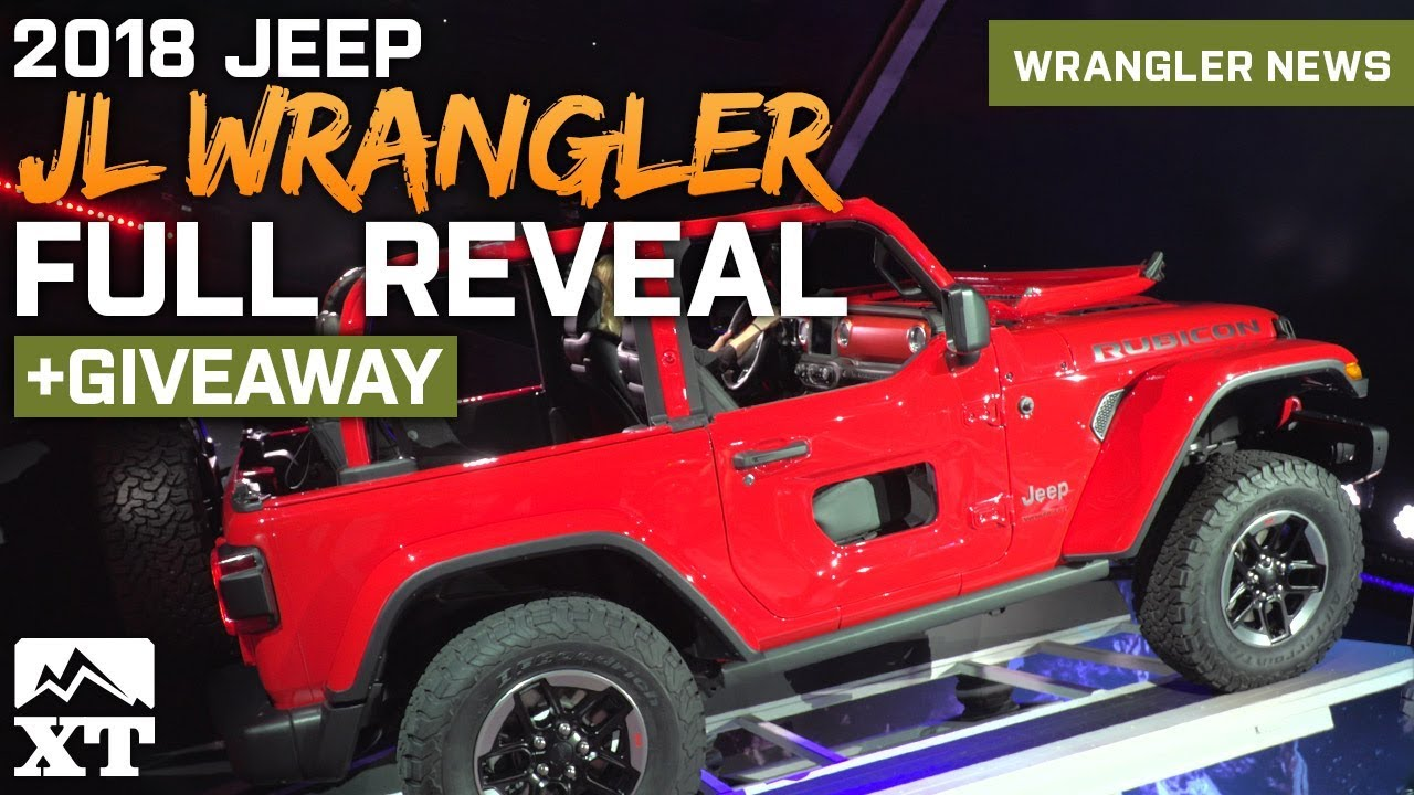 Jeep Wrangler JL Official Reveal At LA Auto Show Wrangler - Car show giveaways