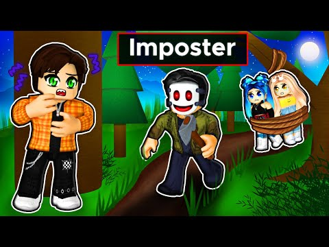 Trapped in a FOREST with an IMPOSTER in Roblox!