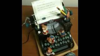 Enesco Typewriter Music Box